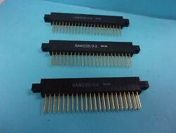 44 Pin Connector , Saw22d/3-2 , 8-30 , Lot Of 3