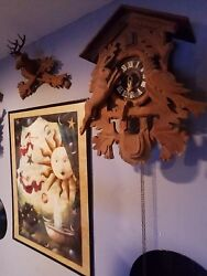 Wooden Carved Antique Cuckoo Clock