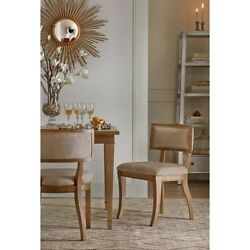 Madison Park Marie Wood Dining Chair Set Of 2 In Beige Finish MPS100-0042