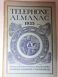 Vtg 1935 Telephone Almanac Bell System American Telephone And Telegraph Ships Free