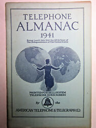 Vtg 1941 Telephone Almanac Bell System American Telephone And Telegraph Ships Free
