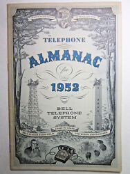 Vtg 1952 Telephone Almanac Bell System American Telephone And Telegraph Ships Free