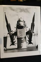 MILITARY SHIP PHOTO ADVANCED TERRIER MISSILE 8' X 10