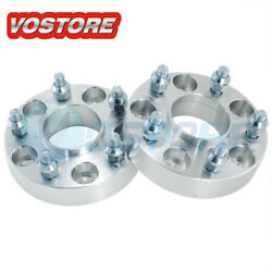 2 1and039and039 5 Lug Hubcentric Wheel Spacers Adapters 5x4.5 For Ford Jeep Mazda Kia