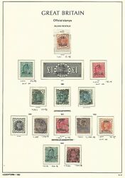 Great Britain Stamp Collection On Lighthouse Page 1896-02 Officials Scv 1810