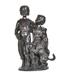 Bronze Statues Children and dog