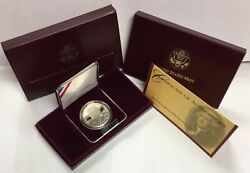1993-s 1 The Thomas Jefferson Commemorative Silver Dollar In Ogp Proof