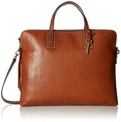 **NWT  FOSSIL EMMA LAPTOP BAG  BROWN  ZB6966200**