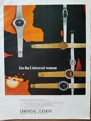 1971 Universal Geneve Universal Watch For The Woman Vintage Color Ad