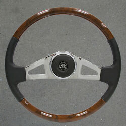 New Vip25 18 Inch Chrome And Leather And Wood Kenworth Steering Wheel