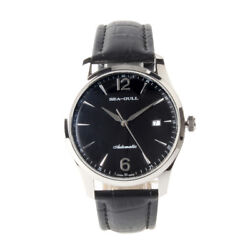 Seagull Date Leather Strap Exhibition Back St2130 Movement Automatic Men's Watch