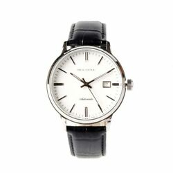 Seagull Leather Band St2130 Movement Exhibition Back Automatic Men's Watch White