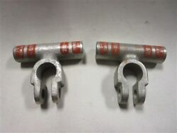 Battery Cable Terminal 2/0 Negative Top Mount Pair Of 2 Marine Boat