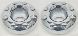 2 Oem 2010 F350 Sd Front Chrome Open Center Caps Hubcaps 4x4 4wd 3618