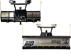 SnowDoggBuyers Products MD80 8' SS Snow Plow for Smaller Trucks