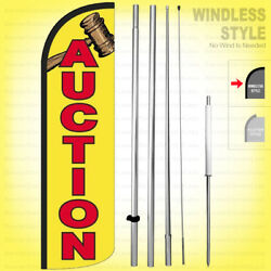 Auction - Windless Swooper Flag Kit 15and039 Feather Banner Sign Yq-h