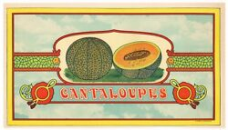 Fruit Crate Stock Label 1910s Typography Graphic Arts Vintage Delaware Seaford