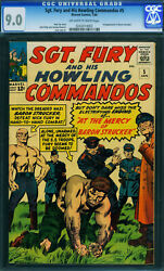 Sgt. Fury And His Howling Commandos 5 -cgc 9.0-1st Baron Strucker- 0242074003