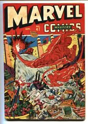 Marvel Mystery Comics 47 1943 Alex Schomburg Wwii Human Torch Cover