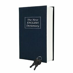 Trademark Home Dictionary Diversion Book Safe With Key Lock Metal - Full Size