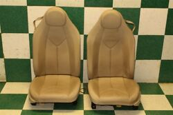 05-11 SLK280 SLK350 Tan Leather Left Right Electric Power Track Bucket Seat Pair
