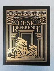 THE NEW YORK PUBLIC LIBRARY DESK REFERENCE 2002 Easton Press Leather 4th Edition