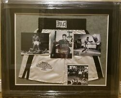 Muhamad Ali Signed And Framed Ltd To 1o Boxing Shorts Display Online Steiner Coa