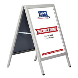 30×40 Slide-in A Frame Menu Double Sided Poster Advertising Display Board Sign