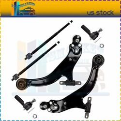 Suspension 6 x Lower Control Arm Inner Outer Tie Rod Kit Fit For Toyota Sienna