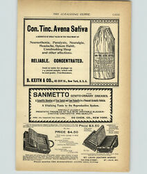 1899 PAPER AD Vintage Medical Devise St Louis Leather Works Dr Case Apothecary $14.97