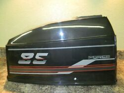 1980and039s Force Engine Cover Top Cowl Cowling Hood 85 Hp 3 Cylinder