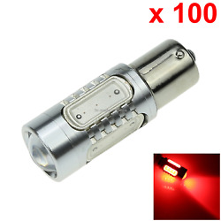 100x Red Car 1156 Instrument Light Bayonet Blub Hight Power 5 4 x COB + 1 Cree L