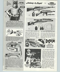 1968 Paper Ad Topper Toy Johnny Eagle Rifle Halco Gi Joe Special Forces Batman