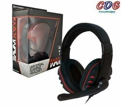 Wired Maxwave Universal Gaming Headset Voice + Chat For Ps3/xbox 360/pc