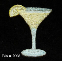 100 Wholesale TROPICAL DRINKS Party LIME MARGARITA IRON ON EMBROIDERED APPLIQUE