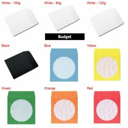 Paper Cd/dvd Sleeves With Window And Flap Lot