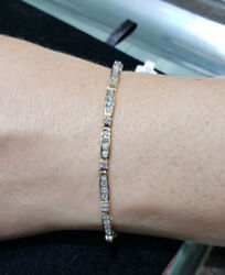 Diamond Tennis Bracelet - 2.00cttw 14k Yellow Gold Channel Set Gift For Her Wife