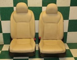 11-12 HS250H Tan Leather Left Right Power Bucket Seat Headrest Airbag Track Pair