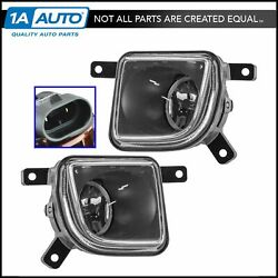 OEM Front Bumper Mounted Fog Driver Light Lamp LH RH Pair Set for Crossfire New