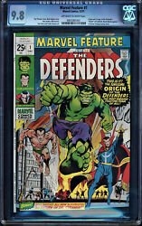 MARVEL FEATURE #1 CGC 9.8 OWW ORIGIN & 1ST APP OF THE DEFENDERS CGC #0935381001