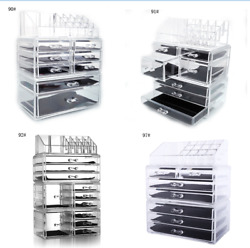 Transparent Cosmetics Rack with Large Drawers Organizer Makeup Case Storage New
