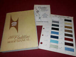 1971 CADILLAC SHOP SERVICE MANUAL, CLIMATE CONTROL SUPP. & 71 PAINT COLOR CHIPS