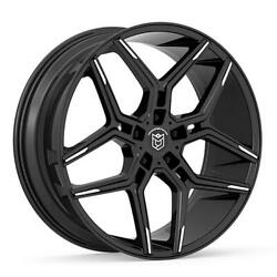 (4) 20x8.5 Black Dropstars 651 651MBT 5x4.5 35 Nitto Ridge Grappler 275x60R20 R