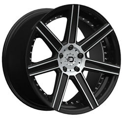 (4) 20x10 Black Dropstars DS650 650MB 5x4.5 40 Nitto Mud Grappler 40x15.5R20 Ri
