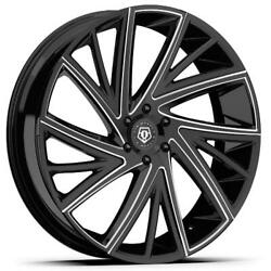 (4) 22x9 Black TIS TIS546 546BM 5x4.5 38 Nitto Ridge Grappler 285x50R22 Rims Ti