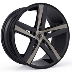 (4) 20x10 Black TIS TIS541 541BZ 5x4.5 40 Nitto Terra Grappler G2 325x60R20 Rim