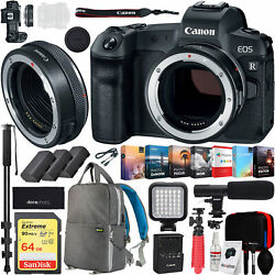 Canon EOS R Full-Frame Mirrorless Camera Body Control Ring Mount Adapter Bundle