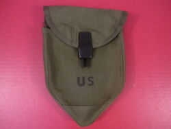 Vietnam Us Army Lightweight Collaspible Tri-fold Shovel Nylon Carrier Cover 1974