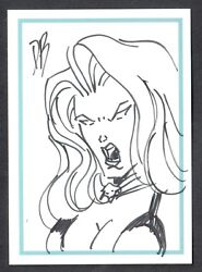 Lady Death Night Gallery Comic Images 1999 Sketch Card By Artist Db Only 200