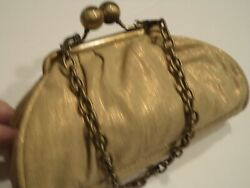 Kenneth Cole Unlisted Sparkle Evening Bag Gold $17.49